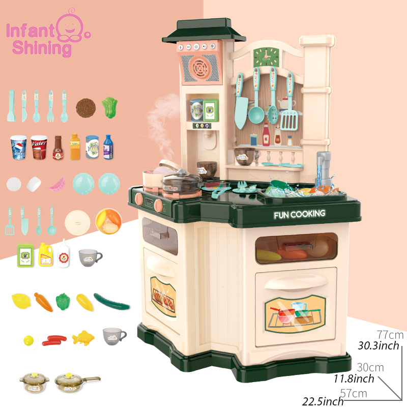 Infant Shining Children <font><b>Kitchen</b></font> <font><b>Toys</b></font> 40PCS Kids <font><b>Kitchen</b></font> <font><b>Toys</b></font> <font><b>Set</b></font> Cooking <font><b>Toy</b></font> <font><b>Set</b></font> Games Pretend Play for Girls and Boys image