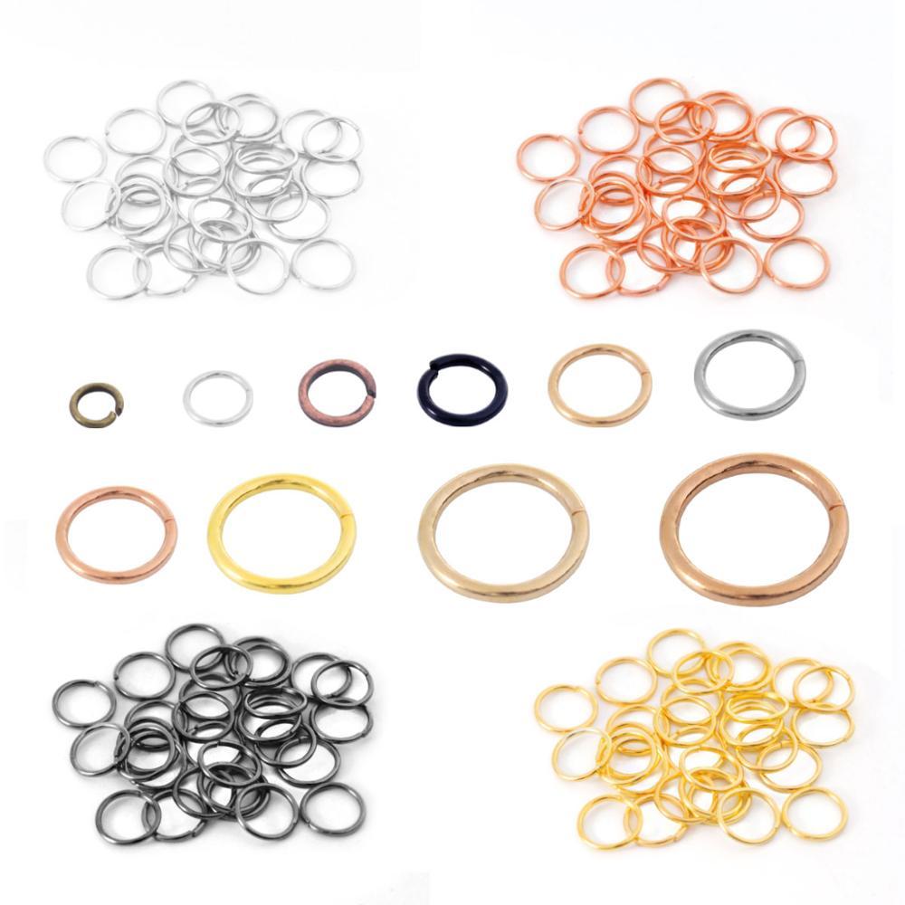 200 sztuk/partia 3/4/5/6/7/8mm Jump pierścienie srebrny podział pierścienie złącza dla Diy biżuteria znalezienie Making akcesoria...