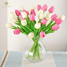 Wedding-Decoration Valentines-Day-Gift Latex-Flowers Tulip Teddy Fresh Romantic High-Quality
