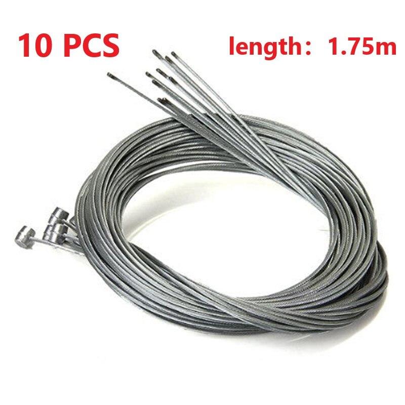 10 шт велосипед тормозной кабель тормозной Шестерни провода кабеля Нержавеющаясталь горный Внутренний провод MTB велосипедные аксессуары