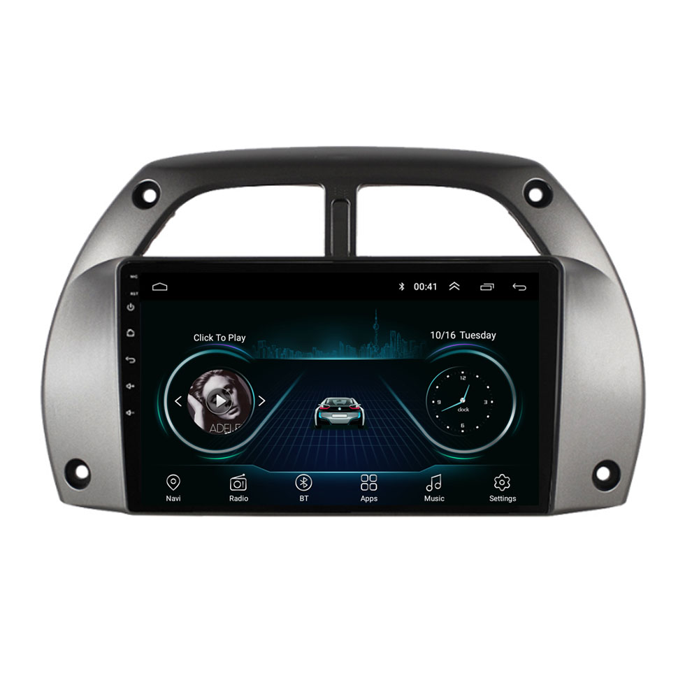 4G LTE Android 10.1 Fit <font><b>TOYOTA</b></font> <font><b>RAV4</b></font> 2001 2002 <font><b>2003</b></font> 2004 2005 2006 <font><b>Multimedia</b></font> Stereo <font><b>Car</b></font> DVD Player Navigation GPS Radio image