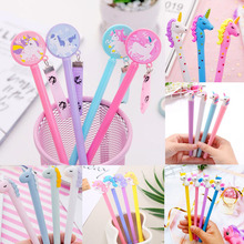 1pc Cute Unicorn Pens 0.5mm Kawaii Gel Novelty Neutral For Writing School Office Supplies Creative Stationery
