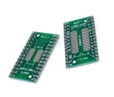 Адаптер SSOP28 SOP28 TSSOP28 к DIP28, 5 шт., конвертер, плата PCB 0,65/1,27 мм