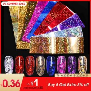 Image 1 - 7 Colors  Nail Foils Nail Transfer Sticker Rose Gold Champagne Nail Stickers 4*20cm Nail Art Design