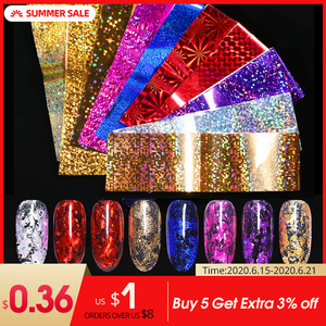 Image 1 - 7 couleurs ongles feuilles ongles transfert autocollant or Rose Champagne ongles autocollants 4*20cm ongles Art Design