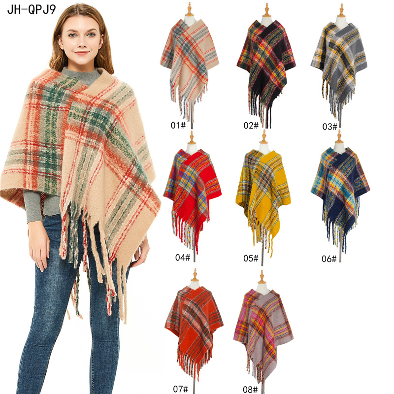 Fashion Scarf For Women Poncho Wearing Scarves Women Warm Shawls Cape Female Scarf