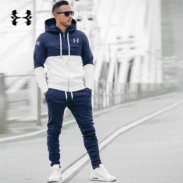 Muscle Dr. Sports Fitness Men Autumn And Winter Fashion New Style Cotton Joint Hoodie Casual Slim Fit Coat