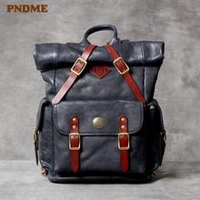 Модный винтажный рюкзак из натуральной кожи высокого качества