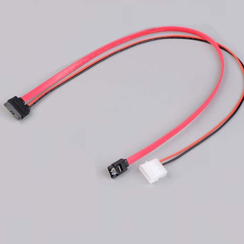 7 + 6 Pin Slimline SATA Cable for Slim Laptop SATA DVD CD-RW Drive Power Adapter Cable Notebook Optical Drive Cable Line image