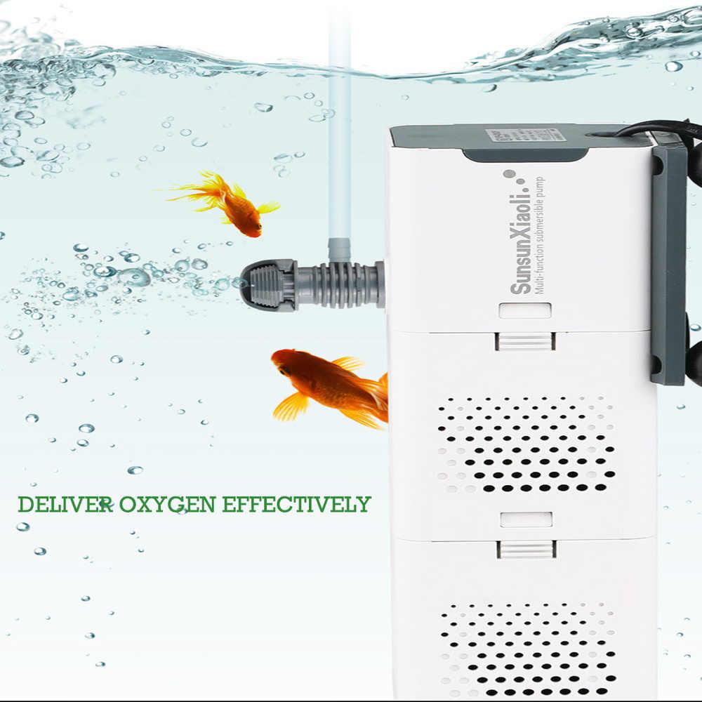 SUNSUN 4 in 1 Multifunction Aquarium Filter Inner Sponge Filter Fish Tank Submersible Water Pump Wave Maker Air Aerator