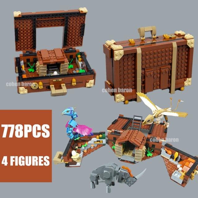 أفكار جديدة نيوت علبة من Creatrues السحرية رائعة الوحوش beauxbaton's عربة 75951 75952 بنة الطوب هدية لعبة أطفال