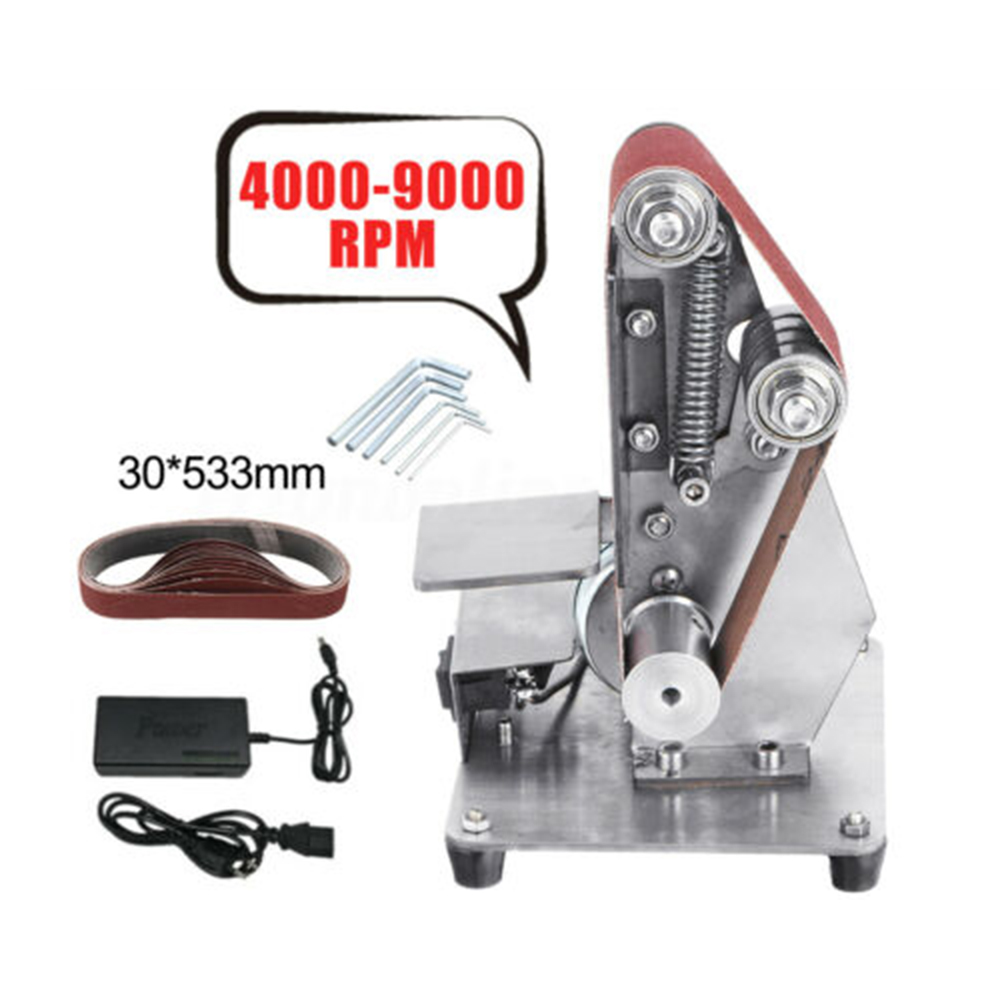 Adjustable Speed Belt Conveyor Kit Wrenches Adapter Non Slip Polishing Woodworking Workbench Power <font><b>Sander</b></font> <font><b>Tool</b></font> Accessories image