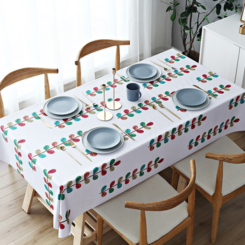 Waterproof oil-proofanti-ironing tablecloth,northernEuropean lattice coffee table cloth, tablecloth, rectangular book tablecloth