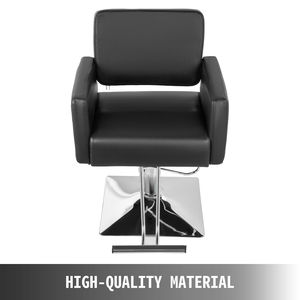 Image 2 - VEVOR Hydraulic Barber Chair PU Leather Styling Chairs for Salon Modern Hairdresser Tattoo Shaving Lift Square Barber Chair