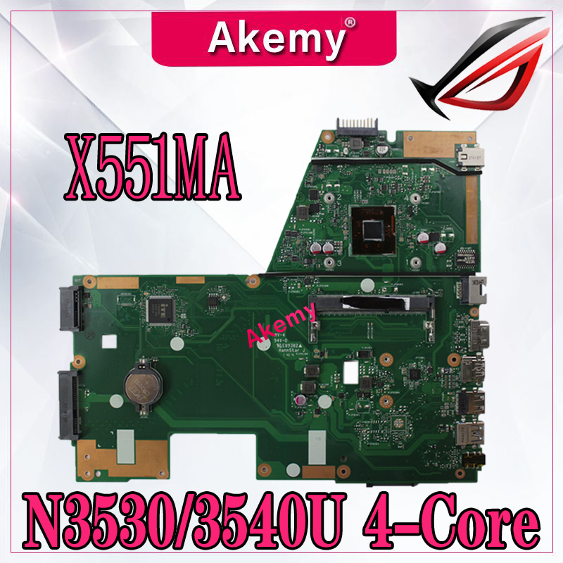 Akemy X551MA Laptop motherboard for ASUS X551MA X551M X551 F551MA D550M Test original mainboard N3530 3540