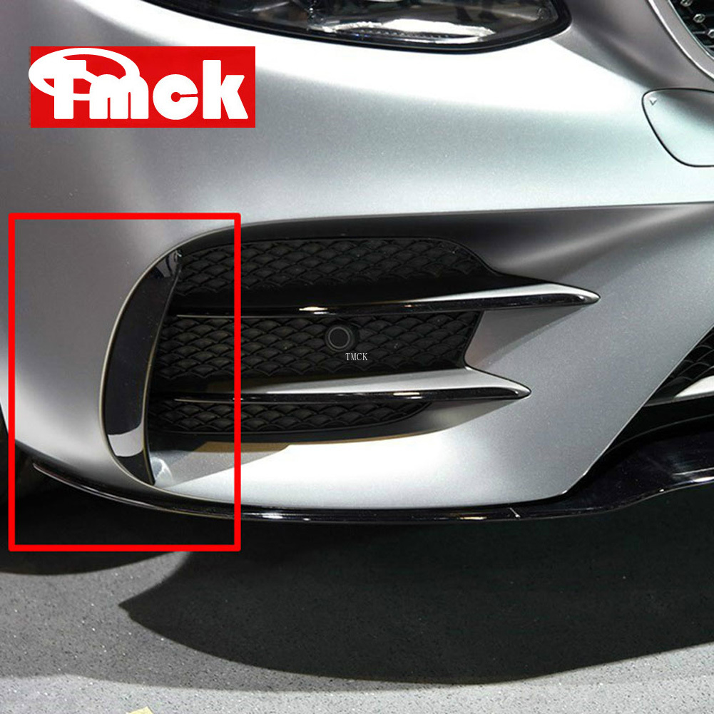 For Mercedes Benz E Class W213 2016-2019 E43 E53 AMG Car Exterior Body Side Front Bumper Lip Trim Cover Stickers Car Accessories