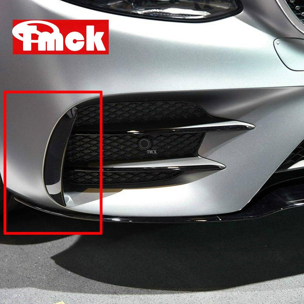 For Mercedes Benz E Class W213 2016-2019 E43 E53 AMG Car Exterior Body Side Front Bumper Lip Trim Cover Stickers Car Accessories