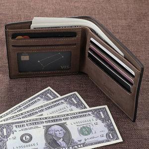 Image 5 - Cartera de cuero PU con imagen personalizada para hombre, billetera plegable con grabado de foto, regalos de Acción de Gracias, billetera personalizada