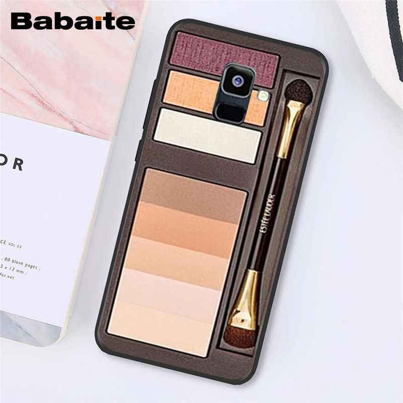Babaite Naked Palette Mode Glam Make-Up Tool Haar Telefoon Geval Voor Samsung Galaxy A7 2018 A50 A70 A8 A3 A6 a6Plus A8Plus A9 2018