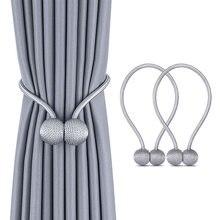 1 pz perla palla magnetica tenda cravatta corda spalle holdback fibbia clip accessori aste accessori gancio supporto decorazioni per la casa