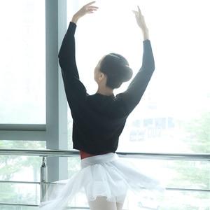 Image 2 - ผู้หญิงบัลเล่ต์เต้นรำเสื้อกันหนาวฤดูหนาวแขนยาวผู้ใหญ่ถัก Dance Tops บัลเล่ต์อุ่น