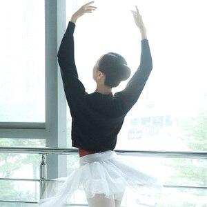 Image 2 - Donne di Ballo di Balletto Maglione di Inverno Adulto Manica Lunga Knit Wrap Danza Magliette E Camicette Balletto Warm Up