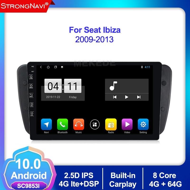 4+64G Android 10.0 Car DVD Radio For Seat Ibiza 6j 2009 2010 2012 2013 GPS Navigation 2 Din Screen Radio Audio Multimedia Player