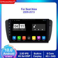 4 + 64G Android 10,0 Auto DVD Radio Für Seat Ibiza 6j 2009 2010 2012 2013 GPS Navigation 2 din Bildschirm radio Audio Multimedia-Player