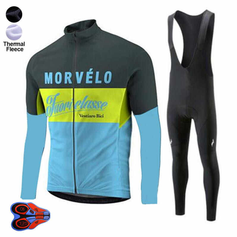 Hommes thermique polaire hiver cyclisme Jersey bavoir pantalon collants Kits de plein air sport vélo ensembles cyclisme tenues 2020 nouveauté