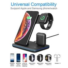 3 in 1 Universal 15W Qi Wireless Charger for Iphone X 8 Xiaomi Fast Quick Charge 3.0 Dock Stand for Apple Airpods Watch 4 3 2 1(China)
