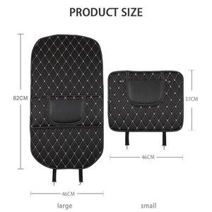 Image 2 - Almohadilla de cuero PU Anti patada para niños, funda protectora de respaldo de asiento impermeable para coche, almohadillas antisuciedad antibarro universales con bolsa de almacenamiento