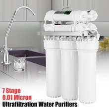 Filtro de água para beber 7 estágios, sistema de ultrafiltração, purificador doméstico, cozinha, filtros de água com válvula de torneira, tubo de água