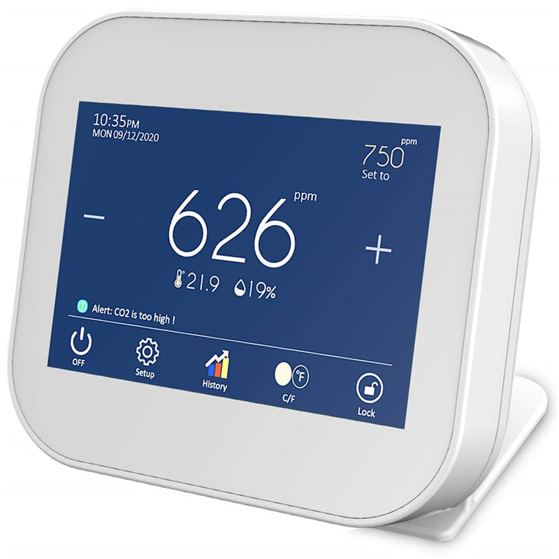 Монитор качества воздуха, интеллектуальный датчик CO2 NDIR, датчик углекислого газа PM2.5, датчик температуры и влажности