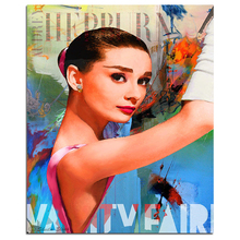 Beautiful Hepburn Portrait 5D DIY Diamond Painting Full Square Embroidery Sale Rhinestones Mosaic Handmade