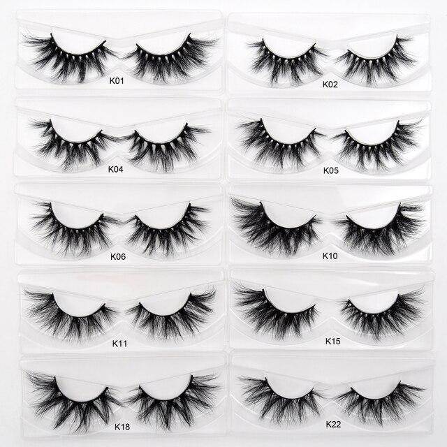 Visofree 30/40/100 Pairs 3D Mink Lashes With Tray No Box Handmade Full Strip Lashes Mink False Eyelashes Makeup eyelashes cilios 4
