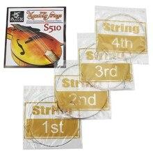 Spock S510 4 шт струна для мандолины из нержавеющей стали изысканный струнный музыкальный инструмент