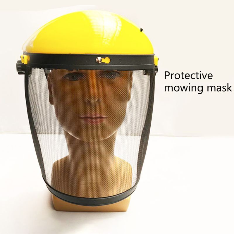 Safety Helmet Mask Cut Grass Protective Screen For Brush Cutter Forestry Mower Face Protective Mask Stencil