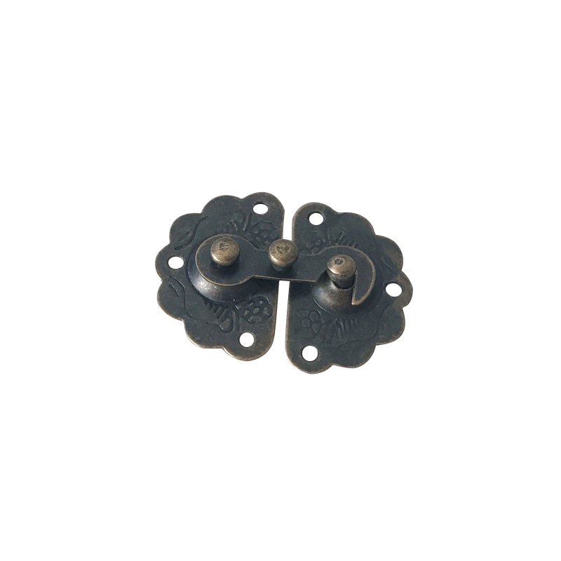 5x Antique Bronze Metal Lock Decorative Hasps Hook Gift Wooden Jewelry Box Padlock With Screws For Wooden Hardware