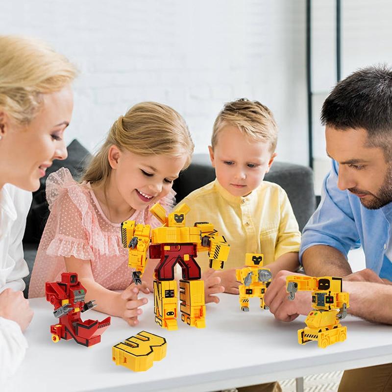 Assembling Building Blocks Russian Transformation Letters Robot Deformation Robot Educational Toys for Boys Children >