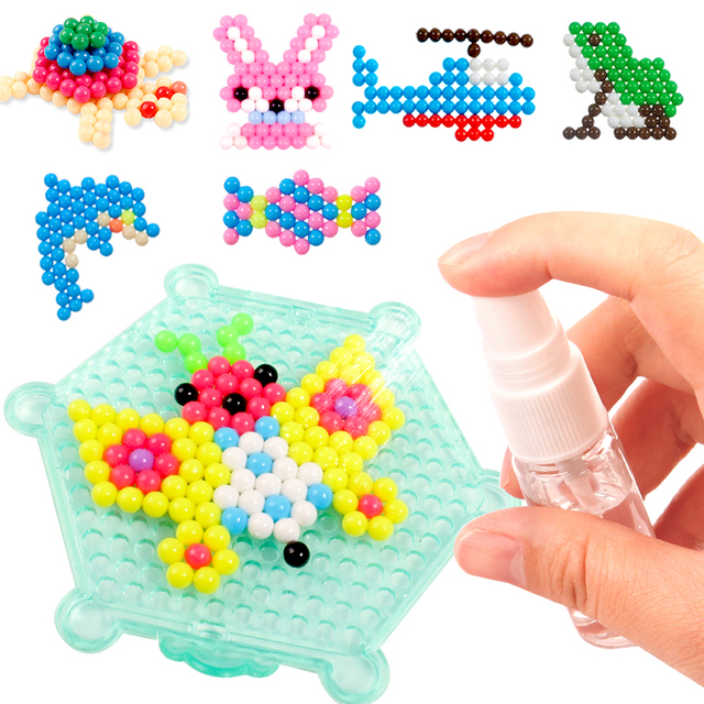 Refill Hama Beads Puzzle Aquabeads DIY Water Spray Beads Set Ball Games 3D Handmade Magic Toys For Girls Children 3