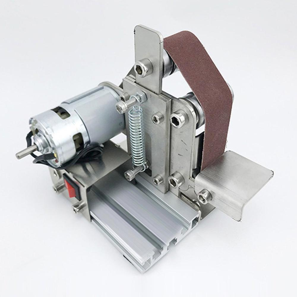 Dämmerung Miniatur Kleine Mini Gürtel Maschine Diy Polieren Maschine Schleifen Maschine Festen Winkel Schärfen Maschine Klinge Desktop