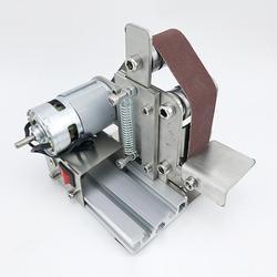 Zmierzch miniaturowa mała Mini maszyna taśmowa Diy szlifierka szlifierka stała ostrzarka kątowa Blade Desktop|Polerki|   -