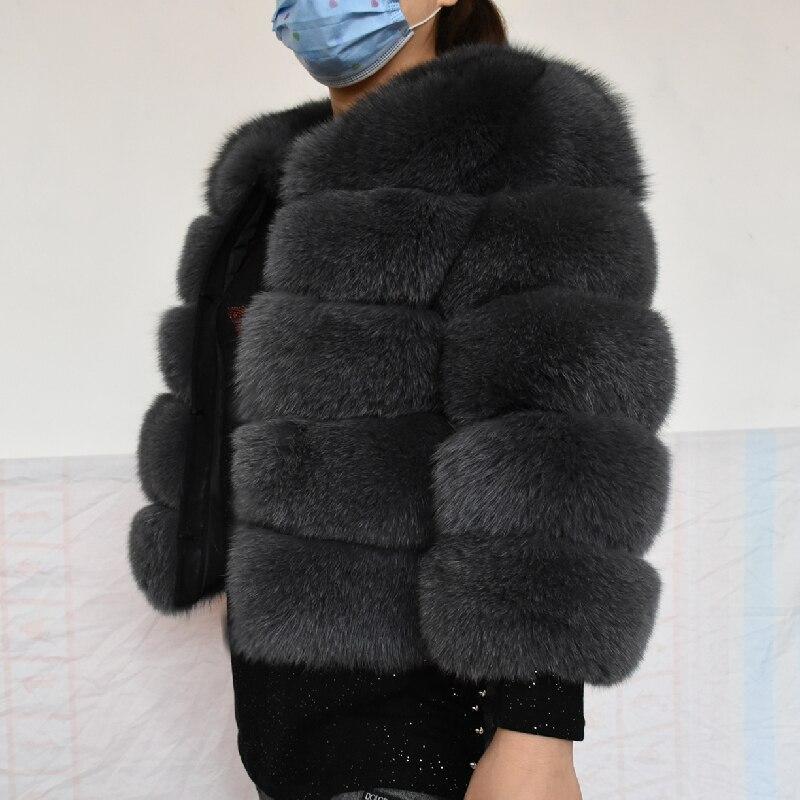 Женский зимний жилет, 2020 натуральный, длиной 50 см, модная верхняя одежда, жилет из натурального Лисьего меха, бесплатная доставка