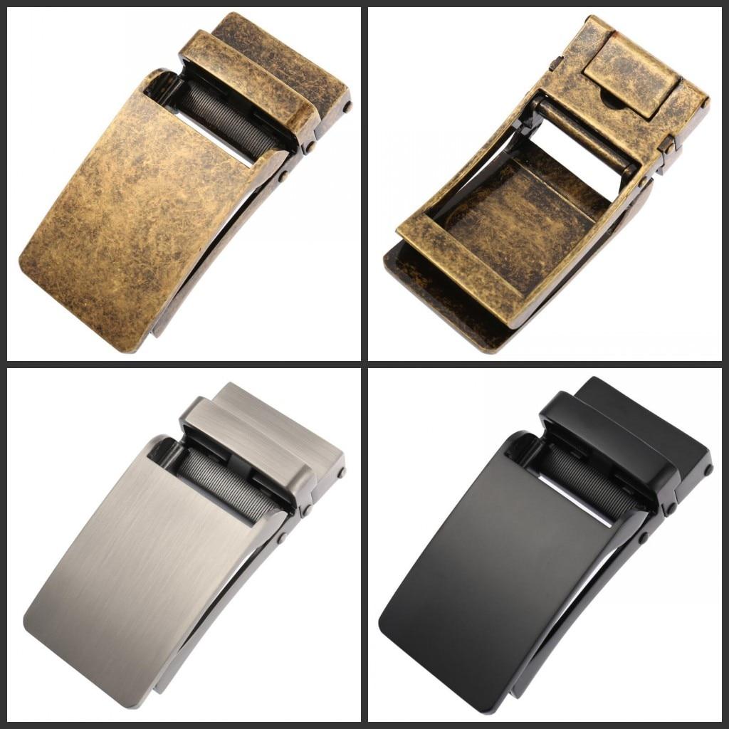 Fashion Alloy Automatic PU Belt Buckles For Men's Leather Waist Belts For Men Pants Buckles 3.6cm Ratchet Accessories LY55-0133