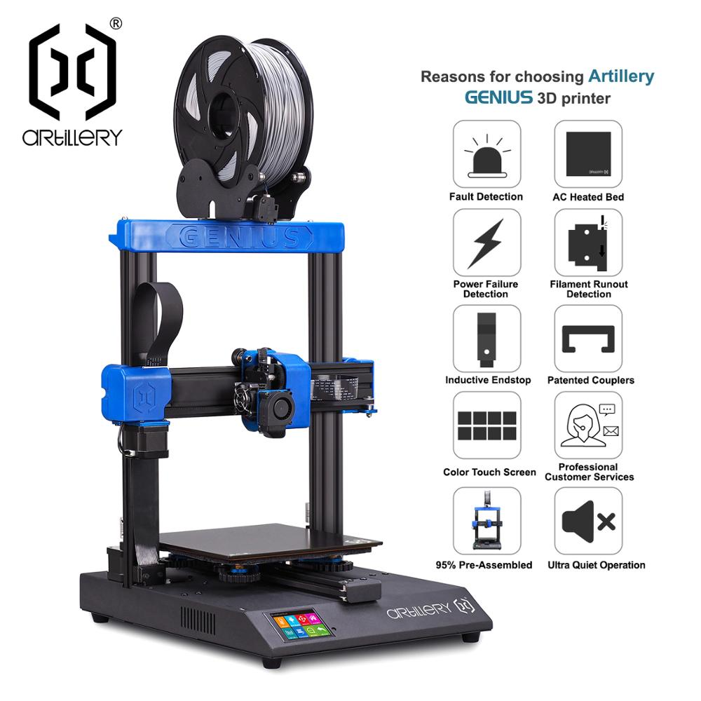 Artillery 3D Printer  GENIUS High Precision Desktop Level Dual Z Axis TFT Touch Screen