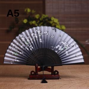 Image 2 - Seide Weiblichen Fan Chinesischen Japanischen Stil Klapp Fan Hause Dekoration Ornamente