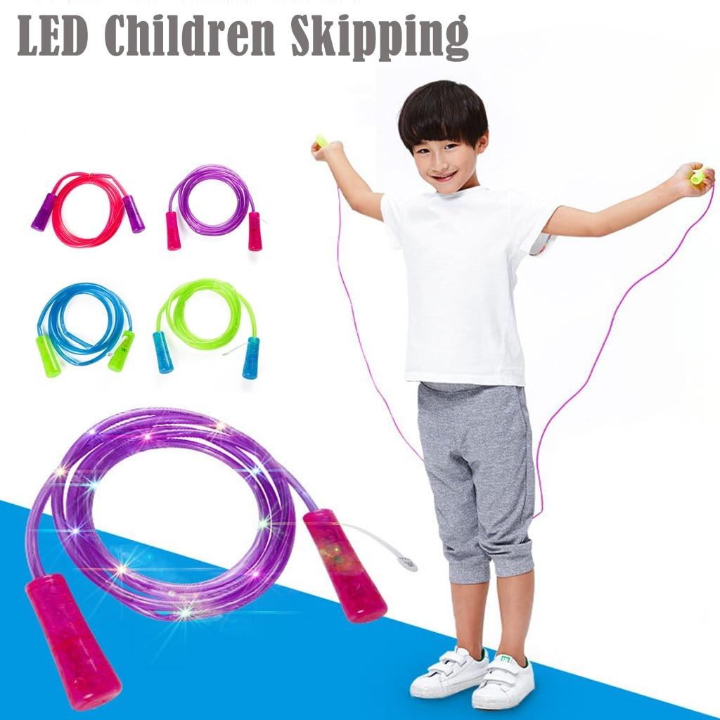 LIGHT UP JUMP ROPE KIDS ADULT LED SKIPPING ROPES TOYS CHILDREN EXERCISE GIFT