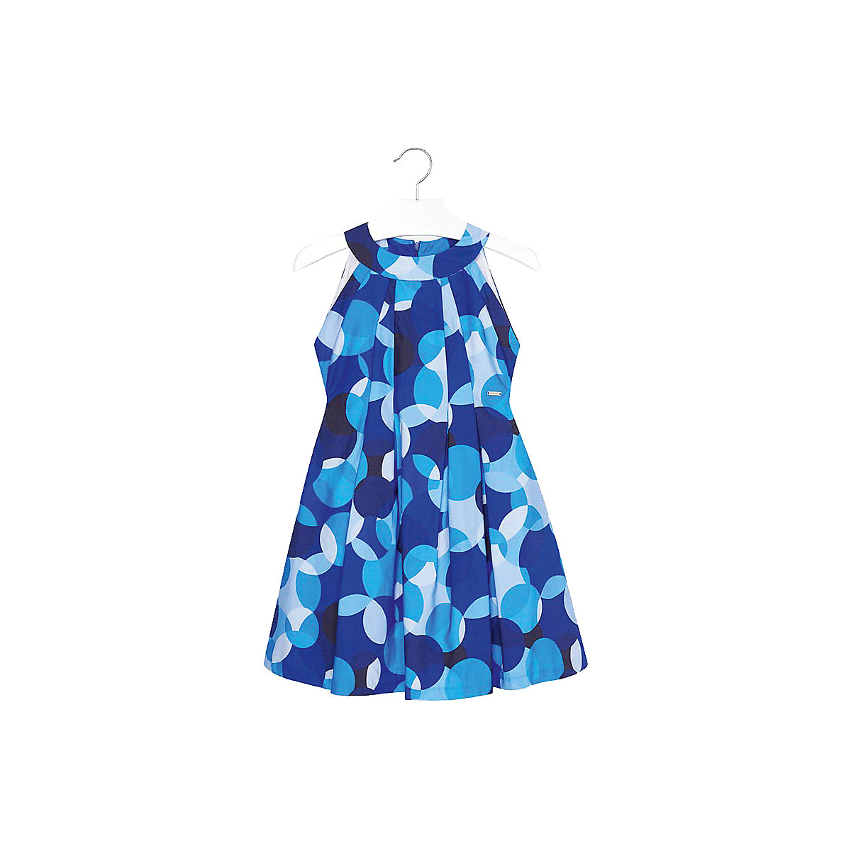 MAYORAL Dresses 10678714 Girl Children fitted pleated skirt Blue Cotton Casual Print Knee-Length Sleeveless Sleeve girl print drawstring top
