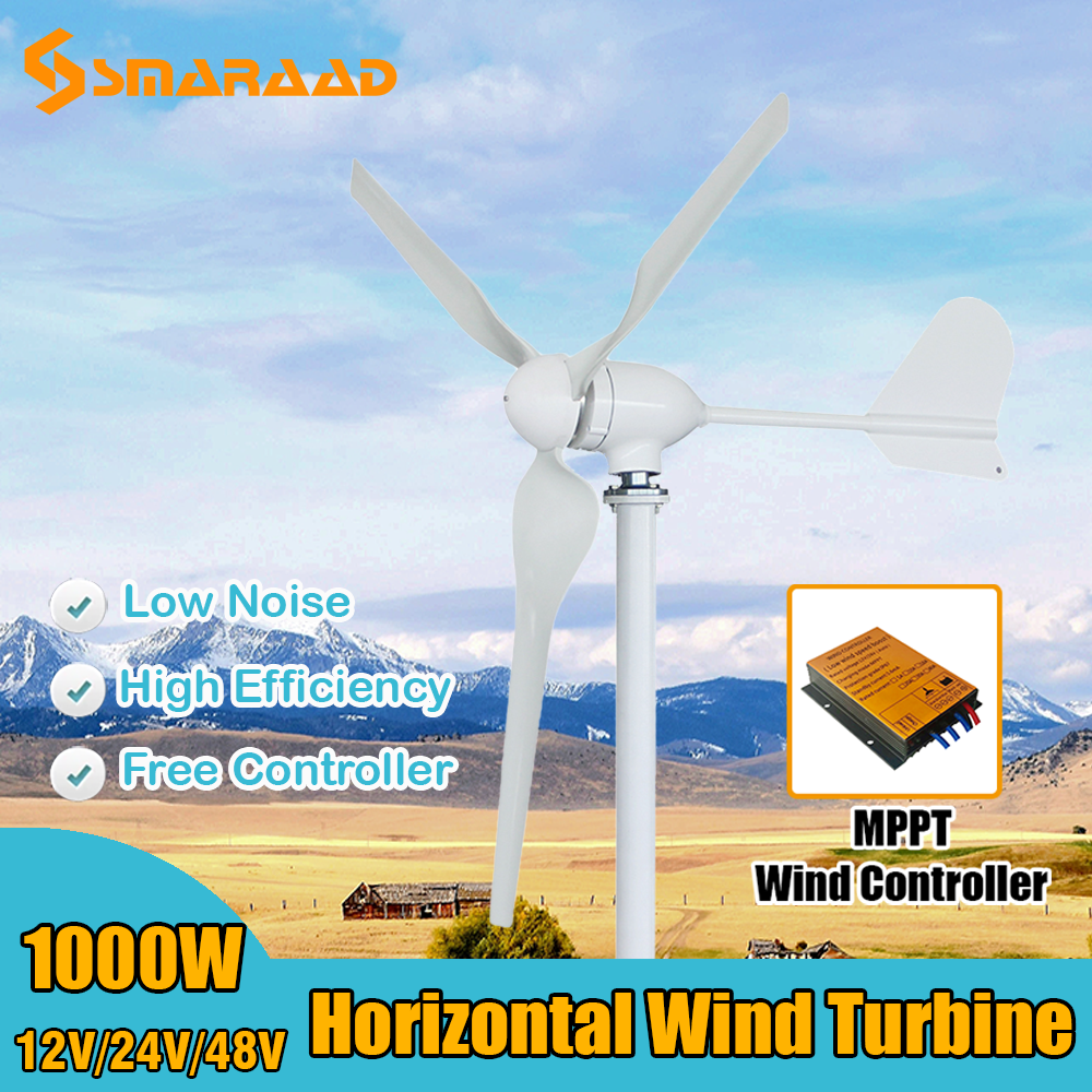 preco de fabrica 1000w 24v 48v 1kw gerador de turbina eolica com controlador de vento a