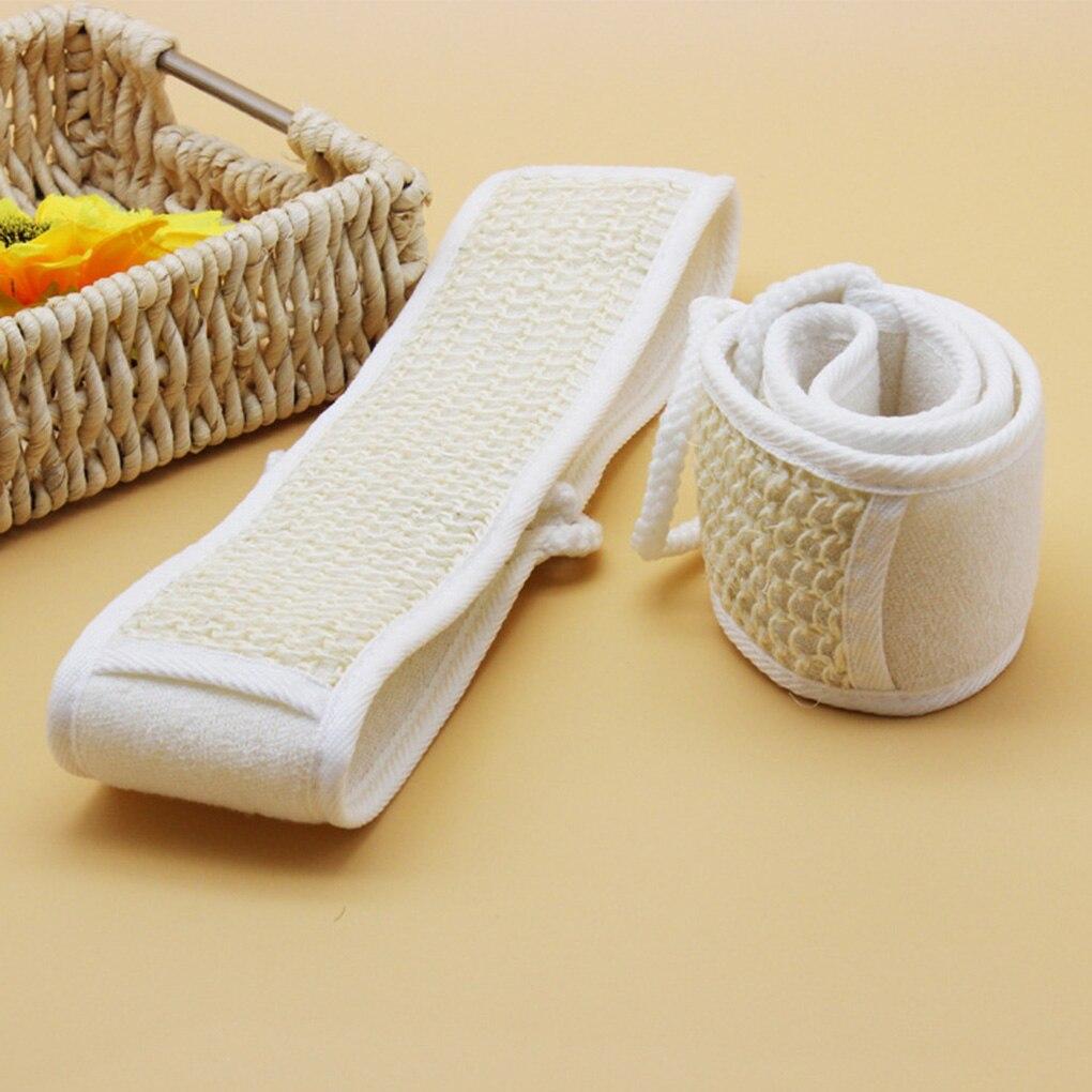 Натуральный люфа ванна растирание щетка отшелушивание растяжение спина полоска растирание спина пояс измельчение повязка ванна полотенце
